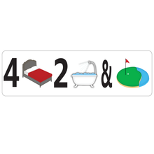 Load image into Gallery viewer, Combo Bedroom, Bath & Golf Course Real Estate Sign Rider