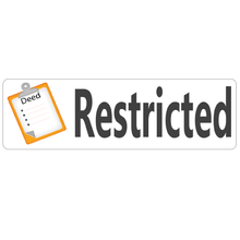 Load image into Gallery viewer, Deed Restricted Real Estate Sign Rider