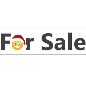 For Sale Real Estate Rider Sign Holiday Edition