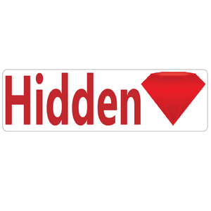 Hidden Gem Real Estate Sign Rider