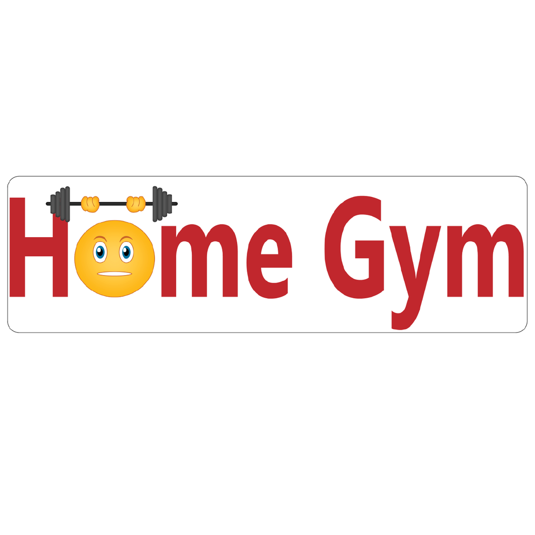 Home Gym Real Estate Sign Rider