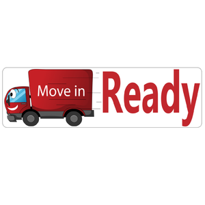 Move In Ready Real Estate Sign Rider