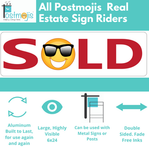 Combo Bedroom, Bath & Beach Real Estate Sign Rider