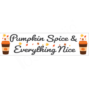 Pumpkin Spice and Everything Nice Real Estate Rider