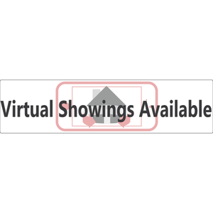 Virtual Showings Real Estate Sign Rider