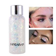 Load image into Gallery viewer, HANDAIYAN Holographic Mermaid Glitter Eyeshadow Gel Body Face Eye Liquid Loose Sequins Pigment Makeup Cream Party Festival Paste