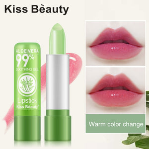 Flower Crystal Jelly Lipstick Magic Temperature Color Changing Lip Balm Moisturizing Long Lasting Beauty Lipstick Makeup TSLM1