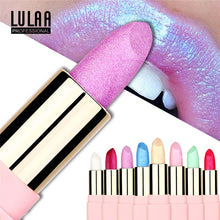 Load image into Gallery viewer, LULAA Colorful Glitter Metallic Lipstick Long Lasting Shiny Highlighter Waterproof Lip Stick Waterproof Makeup Cosmetic Lipstick