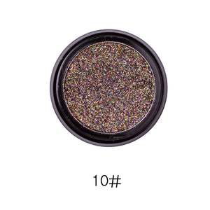 Hot 14 Colors Sequins Face Body Powder High Pigment Makeup Shimmer Body Glitter Eyes Make Up Lip Nail Body Powder Cosmetics