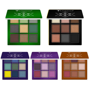 Glitter Diamond Eye Shadow Palette 9 Colors Shimmer Metallic Pigment Highlighter Red Black Eyeshadow Matte Eyes Makeup