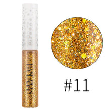 Load image into Gallery viewer, Holographic Color Glitter Eye Shadow Eye Liner Pencil Waterproof Shimmer Eyeshadow Liquid Mermaid Liquid Eyeliner Sequin Pigment