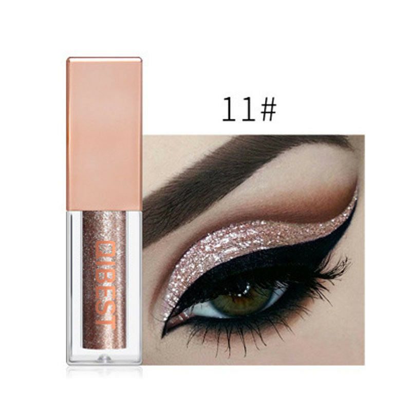 Hot 15 Colors Liquid Glitter Eyeshadow Pencil Shimmer Eyeshadow Waterproof Long-lasting Shimmer Eyeshadow Eye Makeup Accessories