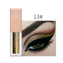 Load image into Gallery viewer, Hot 15 Colors Liquid Glitter Eyeshadow Pencil Shimmer Eyeshadow Waterproof Long-lasting Shimmer Eyeshadow Eye Makeup Accessories