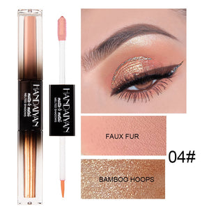 HANDAIYAN 3 In 1 Pen for Eyeshadow EyeLiner Lipgloss Liquid Glitter Matte Metal Waterproof Lasting Lip Eye Cosmetic Makeup TSLM1