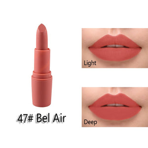 Miss Rose Matte Lipstick maquillage Mate Batom Makeup Waterproof Lip stick for Lips Makeup Cosmetics Korean Tint Tattoo
