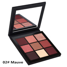 Load image into Gallery viewer, Professional Eyeshadow Palette 9 Colors Matte Glitter Eye shadow Palettes Shining Eye Shadow Nude Set Cosmetics Long-lasting 35D
