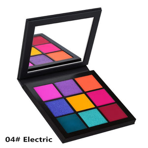 Professional Eyeshadow Palette 9 Colors Matte Glitter Eye shadow Palettes Shining Eye Shadow Nude Set Cosmetics Long-lasting 35D