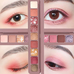 Fashion Eyeshadow Pallete Glitter Eye Shadow Pearl light Flash Film Brilliant Waterproof Highlight Flash Powder Lying Silkworm