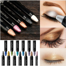 Load image into Gallery viewer, Women Waterproof Highlighter Eyeshadow Pencil Cosmetic Glitter Eye Shadow Eyeliner Pen Eyebrow Color Pencil Easy To Wear