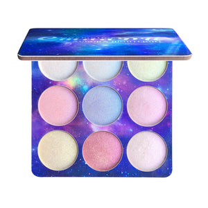 TSMC 9 Colors Glitter Eyeshadow Makeup Pallete Shimmer and Shine Diamond Eye Shadow Highlight Powder Palette Cosmetics drop ship