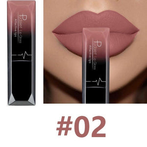 Waterproof Nude Lipstick Long Lasting Liquid Matte Lipstick Kit Lip Gloss Cosmetics Women Fashion Lip Makeup Gift Batom