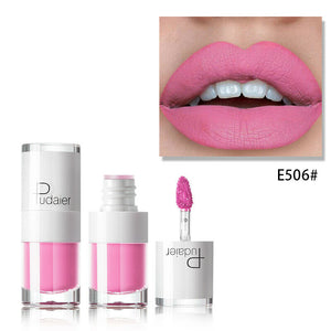 Liquid matte lipstick waterproof red makeup long-lasting matte lip tattoo rich lip gloss rouge makeup tools