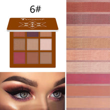 Load image into Gallery viewer, 9 Colors Shimmer and Shine Diamond Eyeshadow Powder Eyeshadow Makeup Pallete Glitter Matte Eye shadow Palette Pigment Cosmetics