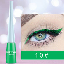 Load image into Gallery viewer, 12-color matte Cat Eye Makeup Waterproof Neon Colorful Liquid Eyeliner Pen Make Up Comestics Long-lasting Liner Pencil Makeup