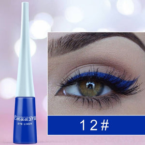 12-color matte Cat Eye Makeup Waterproof Neon Colorful Liquid Eyeliner Pen Make Up Comestics Long-lasting Liner Pencil Makeup