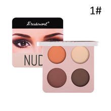Load image into Gallery viewer, Makeup Eyeshadow Palette 4 Color Wine Red Glitter Shimmer Matte Long-lasting Eye Palette Waterproof Eyeshadow Pigment