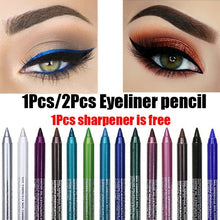Load image into Gallery viewer, Eyeliner Gel Pencil Long Lasting Waterproof No Blooming Makeup Cosmetic With Sharpener 14 Color Pearlescent Matte Eye Shadow Pen