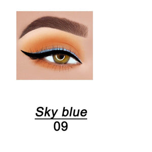 Eyeliner Gel Pencil Long Lasting Waterproof No Blooming Makeup Cosmetic With Sharpener 14 Color Pearlescent Matte Eye Shadow Pen