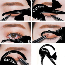 Load image into Gallery viewer, 2 Pairs Eyeliner Stencil Models Cat Eye Line Template Shaper Makeup Beauty Tools