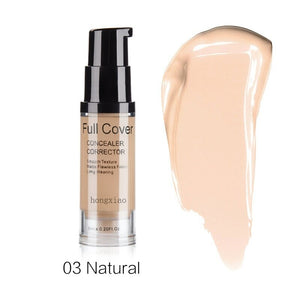 Natural Make Up Base Cosmetic Full Cover 8 Colors Concealer Makeup 6ml Eye Dark Circles Cream Face Corrector Waterproof