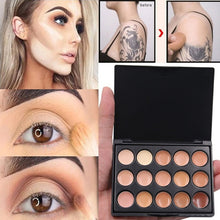 Load image into Gallery viewer, popfeel Professional 15colors Brand Makeup Base Color Corrector Contour Cream kit Concealer Palette makeup Foundation waterproof