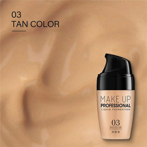 3 Colors Face Foundation Cream Waterproof Long-lasting Concealer Liquid Professional Makeup Full Coverage Matte Base Make Up