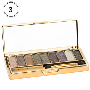 9 Colors Professional Eye Shadow Smoky Eyeshadow Palette Maquillage Long Lasting Waterproof Diamond Bright Eye Makeup