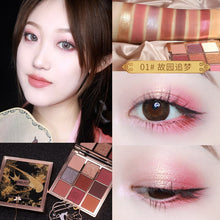 Load image into Gallery viewer, HOJO Oriental Classic Nude Eye Shadow Palette 9Color Eyeshadow Pressed Shimmer Matte Glitter Powder Waterproof Makeup Pallete