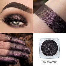 Load image into Gallery viewer, PHOERA Metallic Diamond Single Color Payoff Shimmer Eyeshadow Makeup Palette Glitters Powder Eye Shadow Pigmented Smoky Eyelids