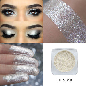 PHOERA Metallic Diamond Single Color Payoff Shimmer Eyeshadow Makeup Palette Glitters Powder Eye Shadow Pigmented Smoky Eyelids