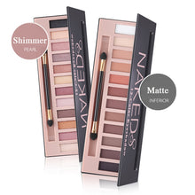 Load image into Gallery viewer, Brand 12 Colors Shimmer Matte Nude Eyeshadow Makeup Palette Pigmented Long Lasting Eye Shadow Natural Eyes Cosmetics With Brush