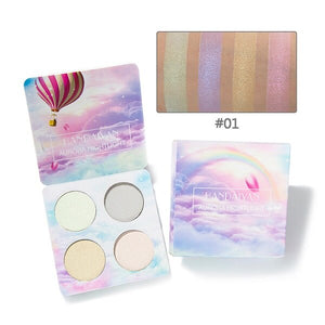 Brand Makeup Bright Light Eye Shadow Palette 4 Color The Nude Balm Minerals Powder Pigments Cosmetics Glitter Eyeshadow Make Up