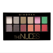 Load image into Gallery viewer, 12 Colors Matte Pigment Glitter Eyeshadow Palette Nudes Neutral Eye Shadow Pigment Palettes Makeup Set  Easy To Wear  Natural