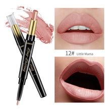 Load image into Gallery viewer, 15 Color Lips Makeup Lipstick Sexy Red Lip Matte Long Lasting Lip Pencil Waterproof Stick Liner Double-end Black Matte Lipsticks
