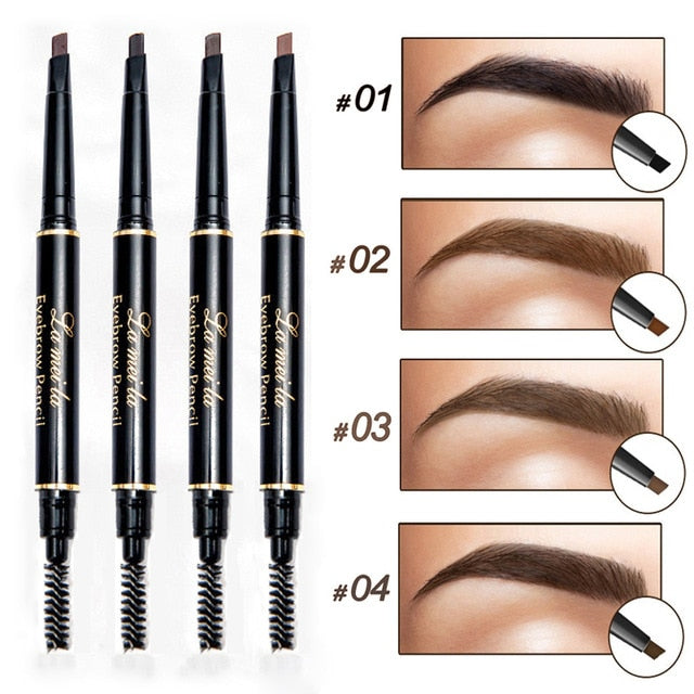 2019 New Brand Eye Brow Tint Cosmetics Natural Long Lasting Paint Tattoo Eyebrow Waterproof Black Brown Eyebrow Pencil Makeup