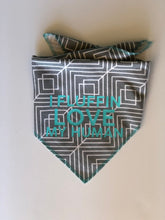 Load image into Gallery viewer, Geometric Grey Dog Bandana