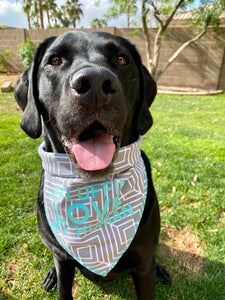 Geometric Grey Dog Bandana