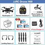JJRC H68 RC Drone Quadcopter Drones with Camera HD 720P Wifi FPV Quadrocopter Altitude Hold Headless Mode Dron 20 Mins Fly Time