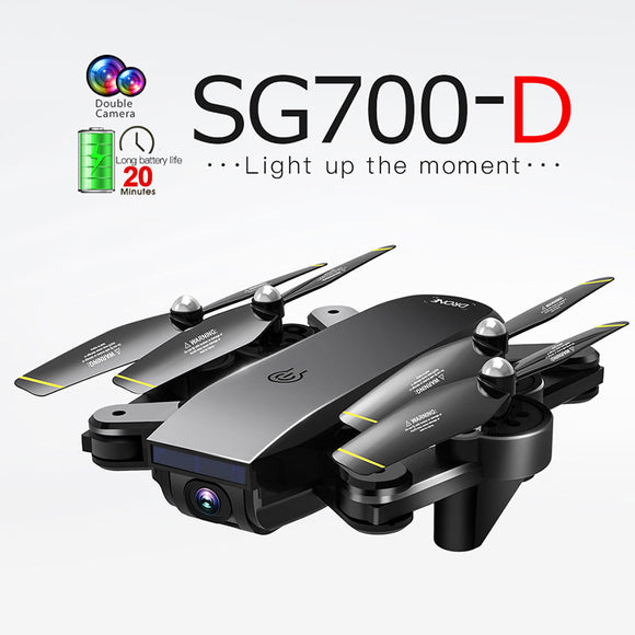 Drone SG700 RC Quadrocopter GPS FPV Drones Wide Angle Dual HD Camera  High Hold Mode Easy to Operate Mini Dron