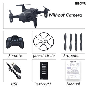 LF602 2.4G HZ Mini Fold RC Drone with 2.0MP / 0.3MP WiFi FPV camera Altitude Hold Headless Mode One Key Return RC Quadcopter